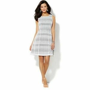 New York & Company Contrast Lace Dress 14